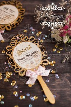 Invitation, princess, gold, espejito, princesa