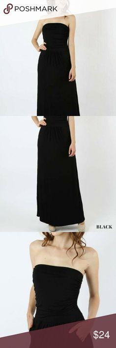 New tube maxi dress w/ pockets, black, grey, Premium quality rayon/spandex tube maxi dress with pockets. Colors ~ Navy, Black, Grey. Sizes ~ Small (4-6), Med (8-10), Large (10-12). Dresses Maxi