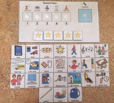 Behavior chart reward chart autism aid special education
