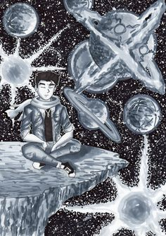 Black and white drawing Black And White Drawing, Universe, Ink, Drawings, Anime, How To Make, Outer Space, Anime Shows, India Ink