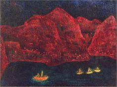 Paul Klee, South coast in the evening on ArtStack #paul-klee #art