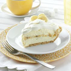Banana Cream Pie Recipe from Taste of Home -- shared by Jodi Grable, Springfield, Missouri   pinterest.com/...
