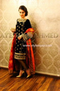 1 Ayesha Ahmed formal wear collection 2015 For Girls Pakistani Dresses, Indian Dresses, Indian Outfits, Pakistan Fashion, India Fashion, Women's Fashion, Fashion Trends, Party Wear Dresses, Formal Dresses