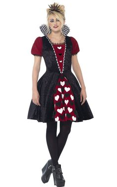 <p>The dark parts of Wonderland need a deranged ruler and that's you! Transform into the wicked Queen in this <strong>Queen of Hearts teen girls costume</strong> by Smiffy's. This Dark Queen costume for teenagers is great as this year's Halloween fancy dress idea. See below for full description and size details.</p>
