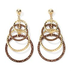 R.J. Graziano Graduated Circle Drop Earrings - Great fall earrings