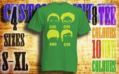 mens Dr Dr Mr Dr vinyl press Tshirt sizes s-xl by customprintuk