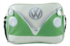 This VW Camper green shoulder bag forms part of the VW Collection by Brisa. The official Volkswagen bags feature a colourful green VW camper bus design with a Volkswagen tag. Vw Bus, Volkswagen T1, Vw T1 Camper, T5 California, Campervan Gifts, Green Shoulder Bags, Deco Retro, Green Gifts, Green Cream