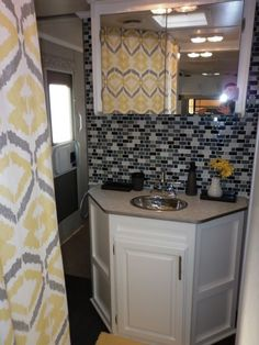 Camper Travel Trailer RV Remodel (2), My parents gave us their old travel trailer...now they want it back!, Bathroom after, Other Spaces Design