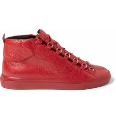 Balenciaga Creased-Leather High Top Sneakers | MR PORTER