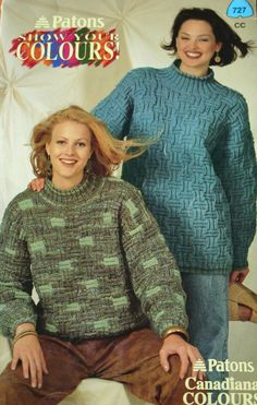 Sweater Knitting Patterns Cardigan Turtleneck Show by elanknits (Craft Supplies & Tools, Patterns & Tutorials, Fiber Arts, Knitting, knitting patterns, Beehive Patons 727, worsted weight yarn, sweater patterns, turtleneck patterns, cardigan pattern, Show Your Colours, jumper patterns, pullover pattern, mock turtleneck, striped sweater, knitting pattern, sweater pattern)
