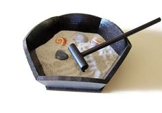 Miniature Zen Garden Meditation Tools and by Paintspiration