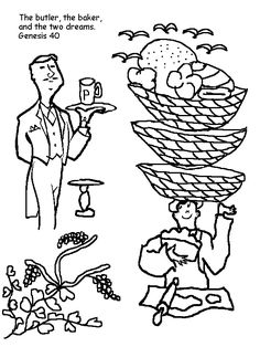 Butler And Baker Coloring Page