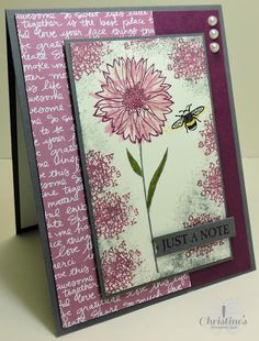 stampin up; stampin up's touches of texture stamp set; touches of texture; card making; video tutorial; crafts; Christine's Stamping Spot