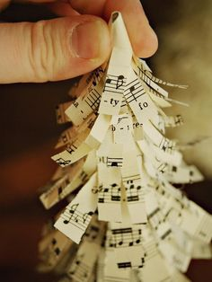 How to Make Sheet Music Christmas Trees :