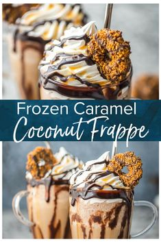 Frozen Caramel Coconut Cold Brew Coffee This Frozen Coconut Caramel Frappe recipe is the perfect morning treat to start your day! This easy frozen coffee drink is made with caramel cold brew concentrate & lots of other delicious ingredients! Blended Coffee Recipes, Blended Coffee Drinks, Coffee Drink Recipes, Starbucks Recipes, Espresso Drinks, Caramel Frappe Recipe, Caramel Recipes, Frozen Coffee Drinks, Coffee Dessert