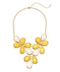 Shining Jewel Collar Necklace - Yellow  $12