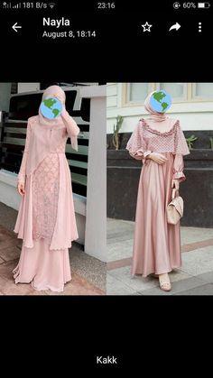 Dress Brokat Muslim, Dress Brokat Modern, Kebaya Muslim, Muslim Dress, Kebaya Brokat, Hijab Dress Party, Hijab Style Dress, Casual Hijab Outfit, Kebaya Dress