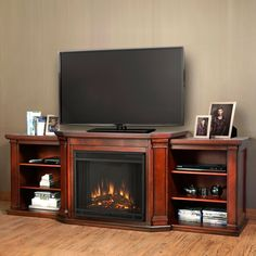 Found it at Wayfair Yalobusha TV Stand with Electric Fireplace
