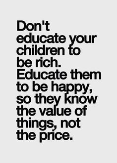 One of my biggest goals...it's hard when you can give them anything they want to not spoil them.