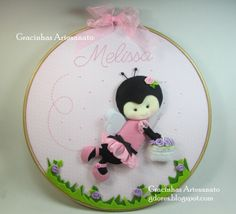 Embroidery hoop craft for nursery decoration