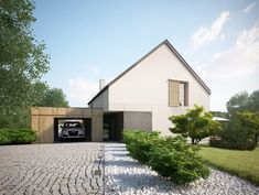 Projekt domu EX HOUSE Domy Czystej Energii widok od frontu