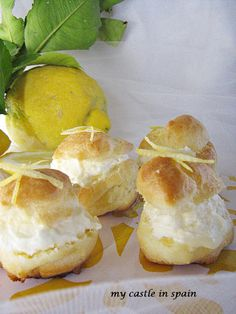 Sweet lemon choux pastry