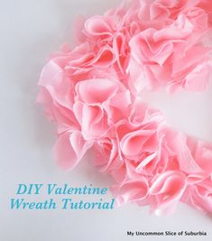 Easy DIY Valentine Wreath you can make for a dollar