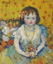 Pablo Picasso (1881-1973) Fillette au pendentif Price realised USD 8,750,000 Estimate USD 8,000,000 - USD 12,000,000