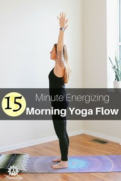 This 15 minute morning yoga flow is designed to get your body moving and leave you energized. The benefits of starting your day with motion and a morning routine are endless and these 9 yoga poses are the perfect start to your day. Click the image for the best 15 minute energizing morning yoga flow and re-pin to share with a like minded loved one!