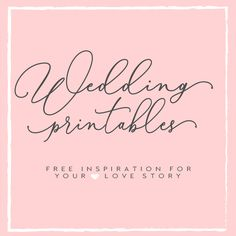 A collection of free wedding printables for every bride. Download wedding planners, timelines, wedding invitation printables and more