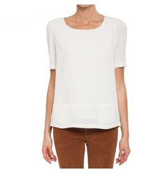 MAEVA - Lined with short sleeves top. Seam pockets in front.