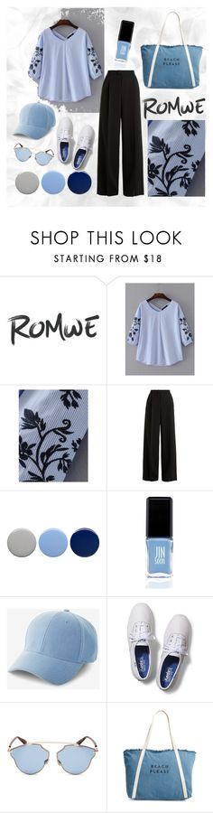 """""""Embroidery blouse"""" by mild-awatsada ❤ liked on Polyvore featuring RED Valentino, Burberry, JINsoon, Express, Keds, Christian Dior and Milly"""