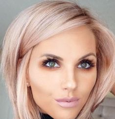 #hairstyles #makeup #beauty short hairstyle + pink