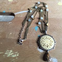 """Monet vintage necklace It has three chains. Please note that one of the smaller chains had to be replace.  It is about 16"""" or shorter almost choker size Monet Jewelry Necklaces"""