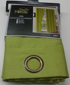 Amazon.com: One Mira Faux Silk Grommet Top Curtain Panel 58 Inches Wide x 84 Inches Long, Lime Green: Home & Kitchen