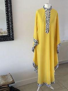 Dubai Style kaftan farasha Jalabiya maxi dress abaya in Clothes, Shoes & Accessories, Women's Clothing, Dresses Long African Dresses, Latest African Fashion Dresses, African Print Dresses, African Print Fashion, Abaya Fashion, Muslim Fashion, Fashion Outfits, Fashion Ideas, Kaftan Designs