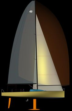 Sail yacht design.