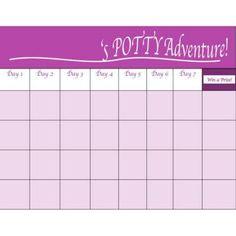Potty Training Chart  Training Certificate Orange  Sheets