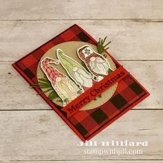 Chrismas Cards, Diy Christmas Cards, Christmas Gnome, Stampin Up Christmas, Xmas Cards, Handmade Christmas, Holiday Cards, Stamping Up Cards, Winter Cards