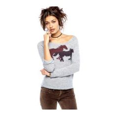 Free People Pony Ride Pullover Sweater
