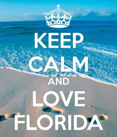 KEEP CALM AND LOVE FLORIDA - KEEP CALM AND CARRY ON Image Generator - brought to you by the Ministry of Information .