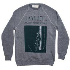 Hamlet book cover fleece