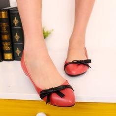 Comfortable flats bowknot fashion popular ladies shoes Z-WLY-B02-Lovelyshoes.net