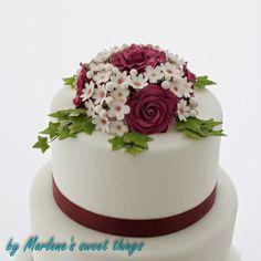 Wedding cake - Hochzeitstorte mit Blumenbouquet