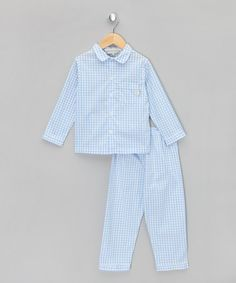 Classic Sky Gingham Woven Pyjamas - Infant, Toddler & Boys  by Darcy Brown…