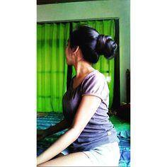 IG: @kmayutd   Color: black  Length: mid thigh  Thick bun. Very lovely thick bun💞💞💞#reallonghair #naturalhair #realhair #rapunzel #realrapunzel #rapunzelhair #longhair #longhairdontcare #sexylonghair #prettylonghair #straighthair #longstraighthair #blackhair #longblackhair #longhairjourney #longhairpage #longhairmodel #instahair #healthylonghair #hairgoals #hairinspiration #superlonghair #hairphoto #verylonghair #passbuttlengthhair #midthighlengthhair #longthickhair #bunstyle #bunhair