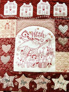 Lots of free patchwork and stitchery patterns by Red Brolly