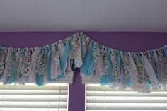 This fabric tassel banner doubles as a window treatment #diy