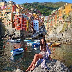 Riomaggiore, Cinque Terre, Italy .... by leahliyah