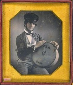 ca. 1850's, [daguerreotype portrait of a gentleman, possibly a cheese vendor] Note the great wheel cap he's wearing.  via the Daguerreian Society, Matthew R. Isenburg Collection